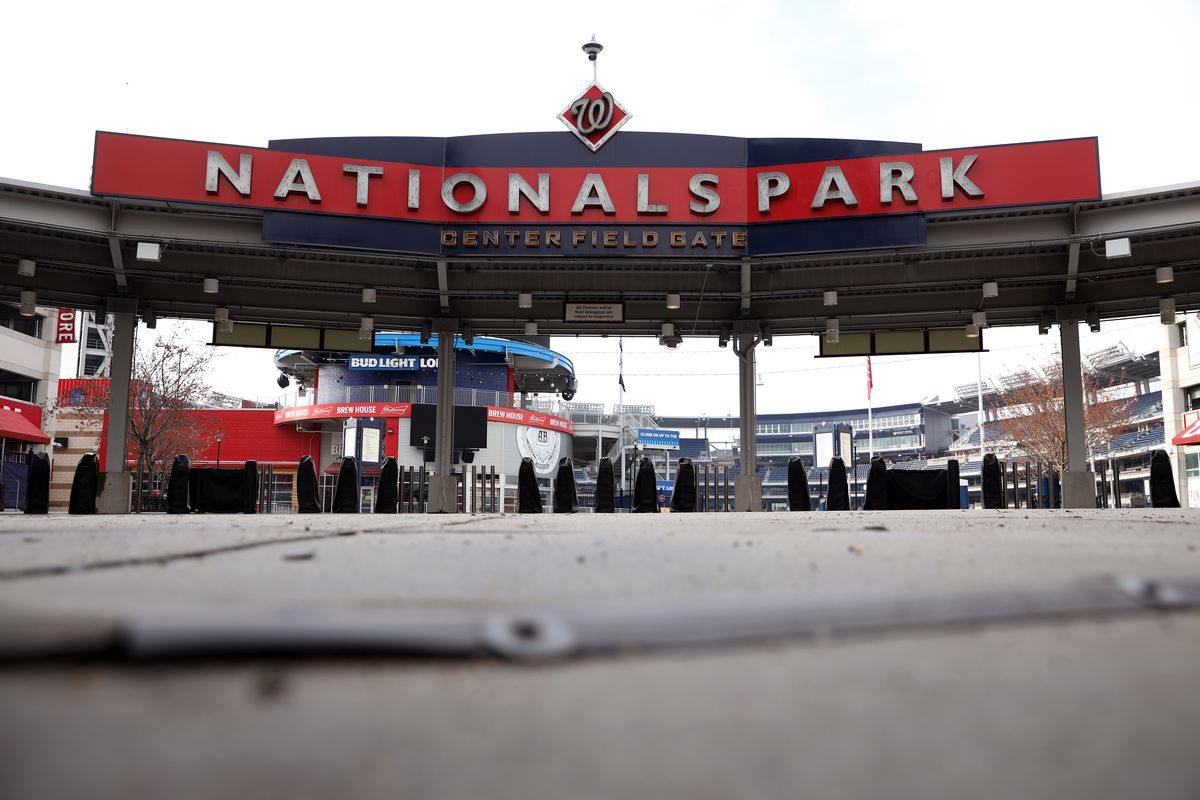 Nationals park is empty while the coronavirus outbreak delays the start of baseball season