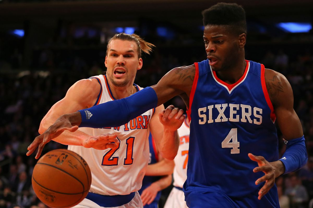 In the battle of fantastic hair, Nerlens Noel reigns supreme over Lou Admunson.