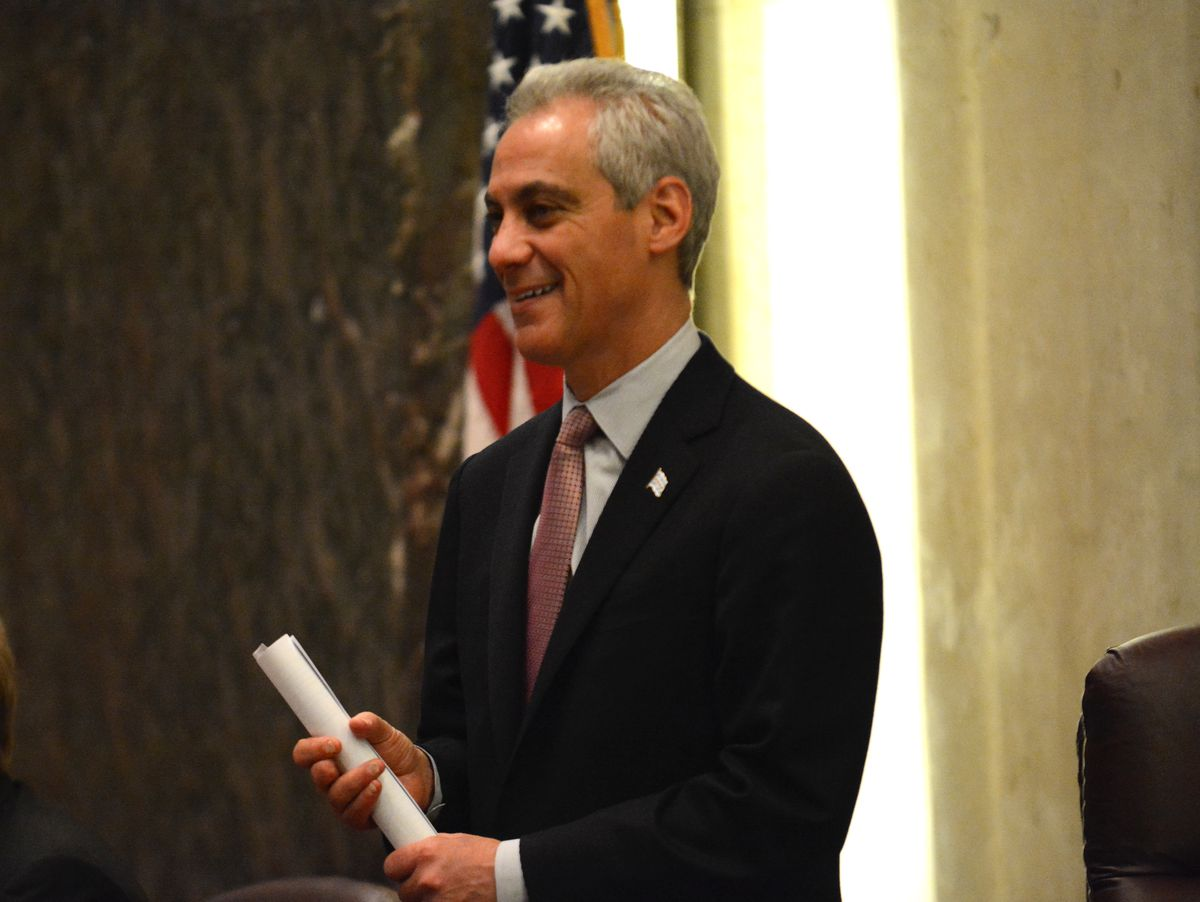 Mayor Rahm Emanuel at Wednesday's Chicago City Council meeting. | Brian Jackson/For the Sun-Times