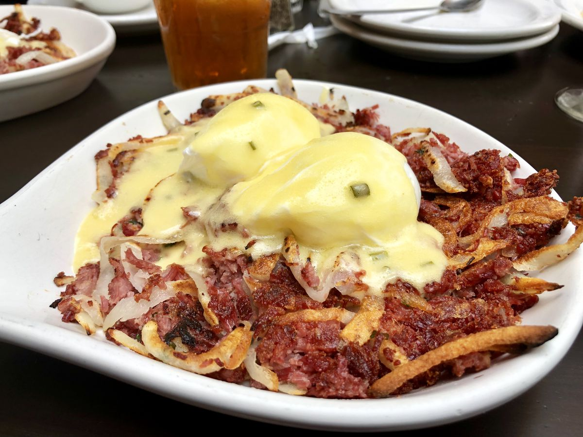 Corned beef hash at City Limits Diner