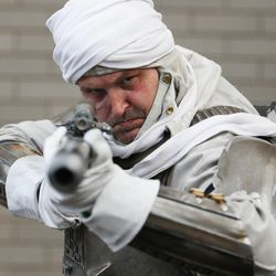 Ken Kersey wears a Stars Wars costume at Comic Con in Salt Lake City Thursday, Sept. 5, 2013.