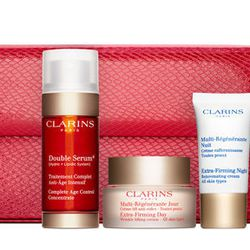 She takes good care of her skin, but lately she has been to busy to pick up her essentials. That's why she'll love the limited-edition Clarins Extra-Firming Luxury Collection. It comes with four anti-aging products including a full size of the best-sellin