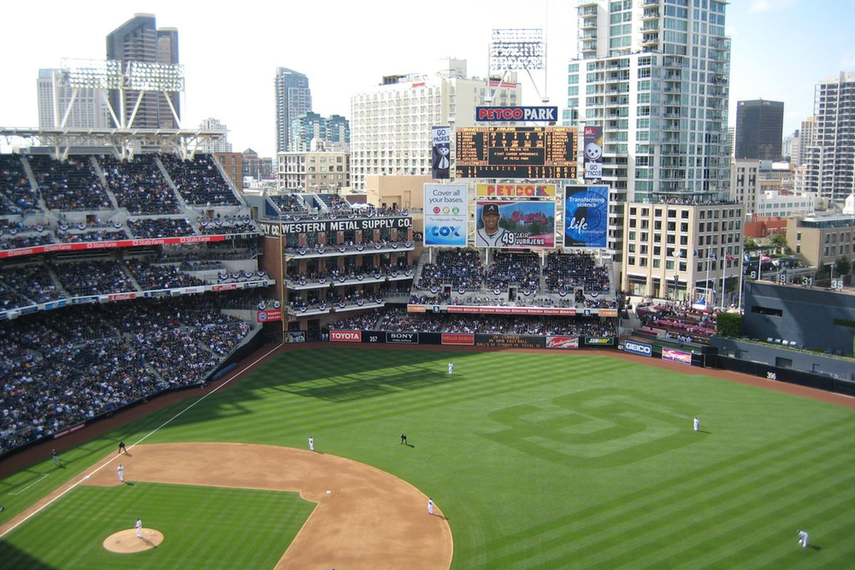 Petco Park Opening Day from Section 315