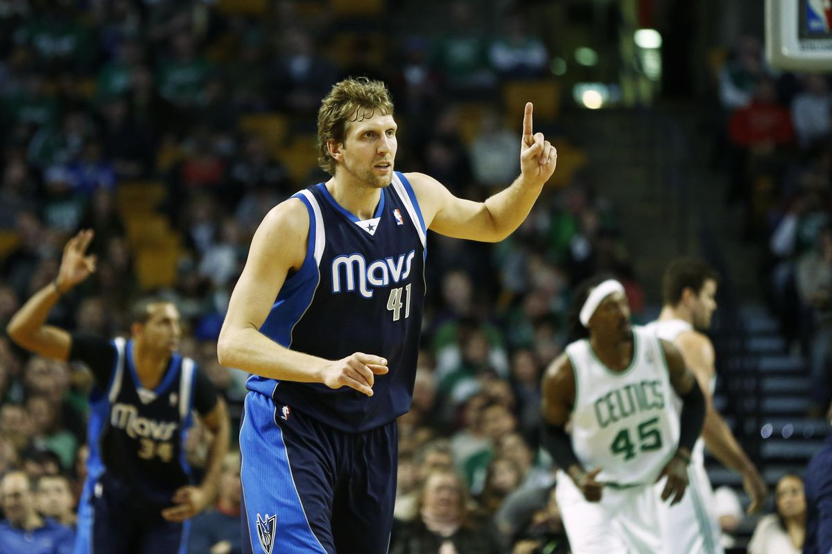 Dirk was his usual self against Boston.