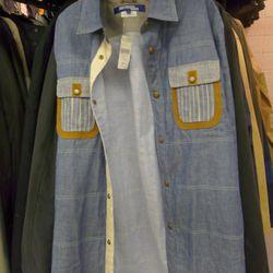 Juntya Watanbe chambray shirt, $239
