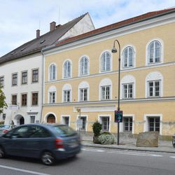 Exterior view of Adolf Hitler's birth house in Braunau am Inn, Austria, Thursday, Sept. 27, 2012. With its thick walls, huge arched doorway and deep-set windows, the 500-year old house near the town square would normally be prime property. Because Hitler was born here, it has become a huge headache for town fathers forced into deciding what to do with a landmark so intimately linked to evil.