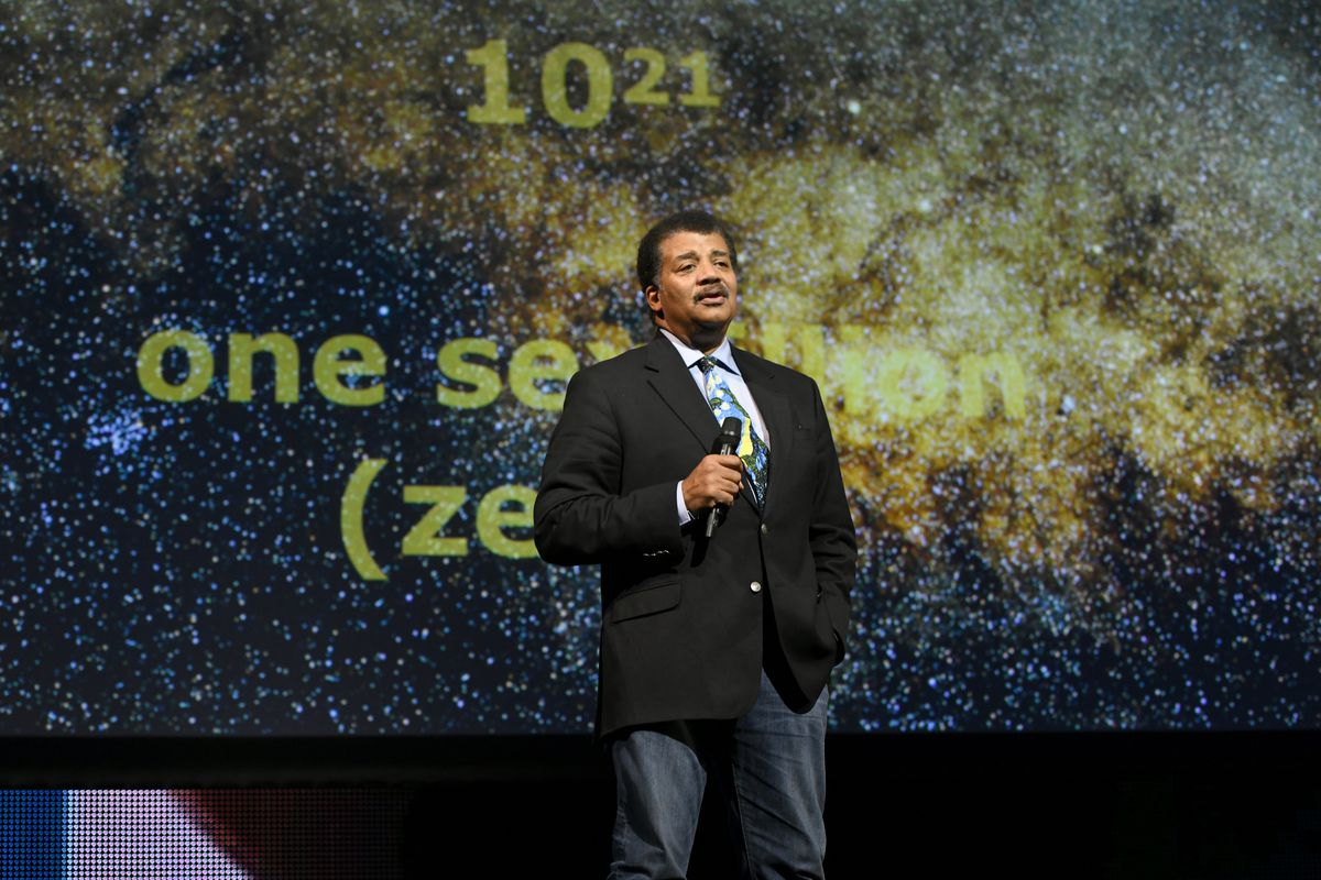 Astrophysicist Neil deGrasse Tyson speaks during the Onward18 Conference on October 23, 2018 in New York City.