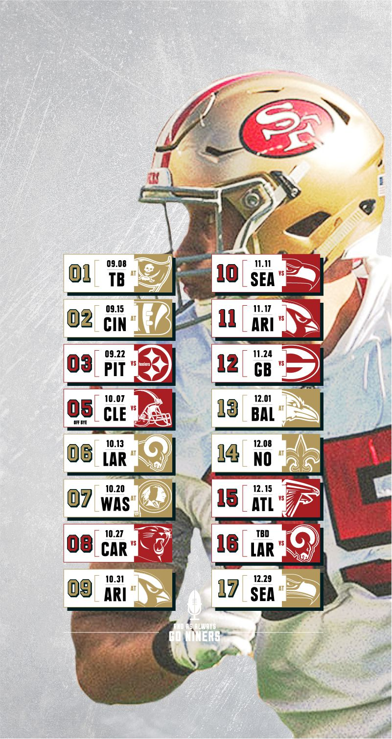 2019 49ers Schedule Wallpapers Niners Nation