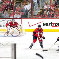 Holtby WIth Purple Tape, Hockey Fights Cancer