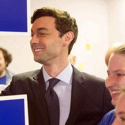 Jon Ossoff, candidate for congress in Georgia's sixth congressional district, after speaking, poses for pictures with supporters and volunteers at the Sandy Springs Canvass Launch for Ossoff's final day on the campaign trail.  Georgia voters steadily streamed into suburban Atlanta polling places Tuesday,  June 20, 2017, set to decide the most expensive House race in U.S. history and put weeks of television ads, phone calls and ringing doorbells behind them. Either Republican Karen Handel will claim a seat that's been in her party's hands since 1979 or Democrat Ossoff will manage an upset that will rattle Washington ahead of the 2018 midterm elections.
