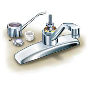 Faucet Cartridge Parts Illustration