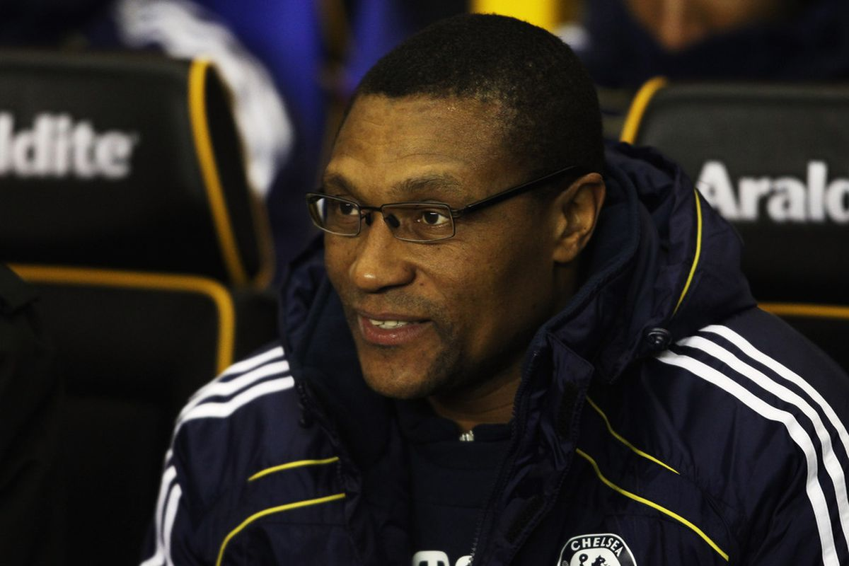 WOLVERHAMPTON, UNITED KINGDOM - JANUARY 05:  Chelsea assistant first team coach Michael Emenalo before the Barclays Premier League match between Wolverhampton Wanderers and Chelsea at Molineux. (Photo by Scott Heavey/Getty Images)