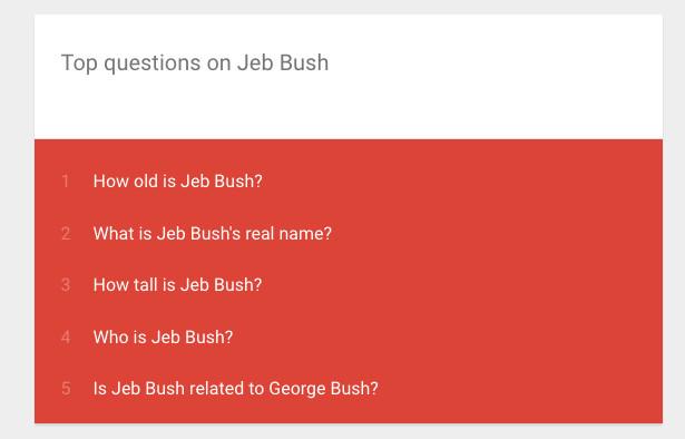 jeb bush related to george bush