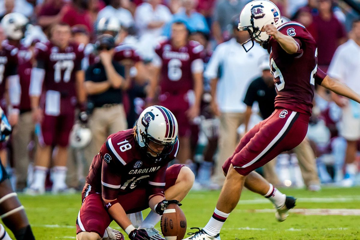 Elliott Fry stands as one of the few bright spots in the Gamecocks' beleaguered special teams unit.