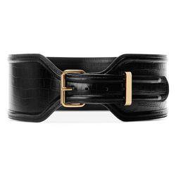 Croc Effect Belt in Black, $29.99 (Available on Net-A-Porter)