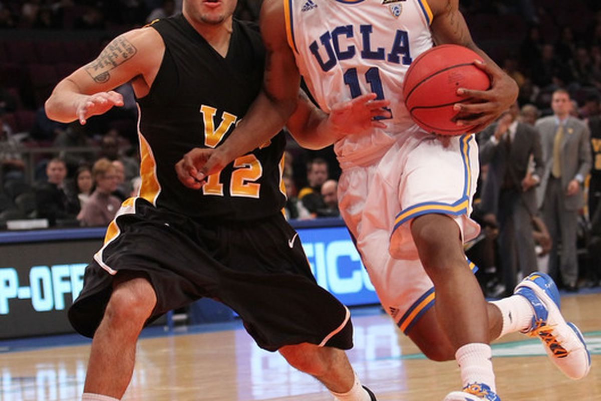 Coach Ben Howland wants Lazeric Jones #11 of the UCLA Bruins to become the team leader, a position in desperate need of being filled.   (Photo by Nick Laham/Getty Images)