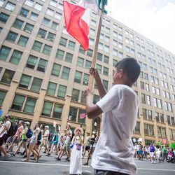 The Families Belong Together march starting in Daley Plaza, Saturday, June 30th, 2018.   James Foster/For the Sun-Times