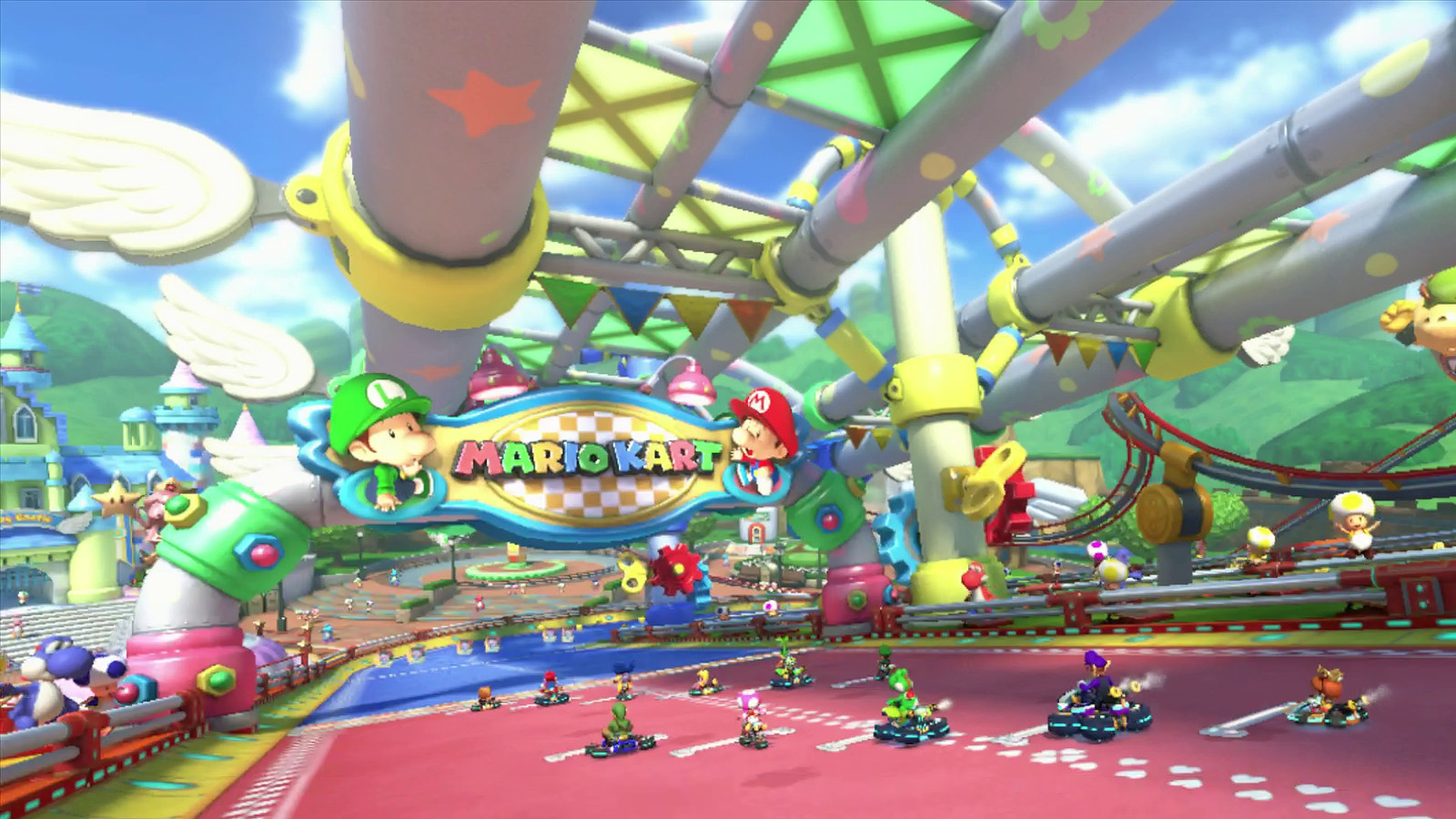 Watch a blazingly fast eight second lap in mario kart 8 39 s for Arredamento baby parking