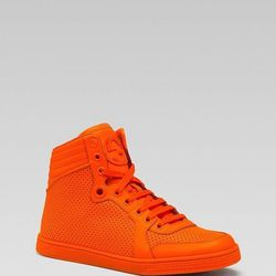 """Gucci Coda High Top Sneaker, <a href=""""http://www1.bloomingdales.com/shop/product/gucci-coda-high-top-sneaker?ID=761110&CategoryID=16961&LinkType=#fn=PRODUCT_DEPARTMENT%3DShoes%26spp%3D41%26ppp%3D96%26sp%3D1%26rid%3D%26spc%3D51 items found%26cm_kws%3Dorang"""