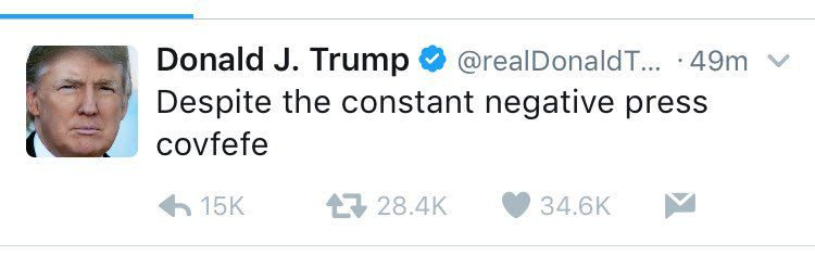 Image result for trump covfefe twitter