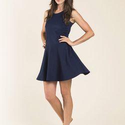 """<a href=""""http://buckleyk.com/shop/gelato-dress-navy"""">Gelato Dress</a>, $138"""