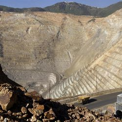 Kennecott's Bingham Canyon copper mine is one of the largest open-pit mines in the world.