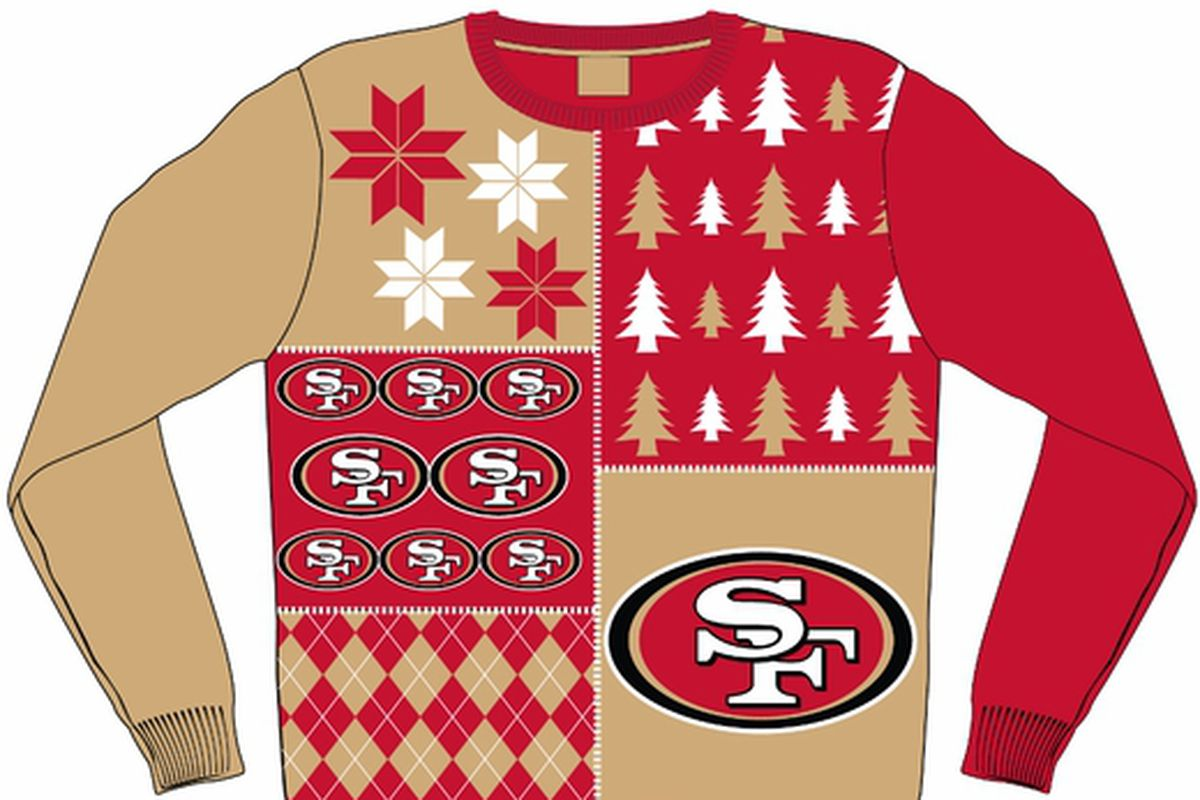 new style 6ab51 79d23 Get your San Francisco 49ers ugly Christmas sweater ...