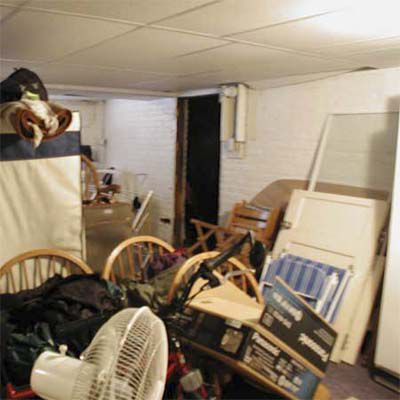 Before House Staging: Basement