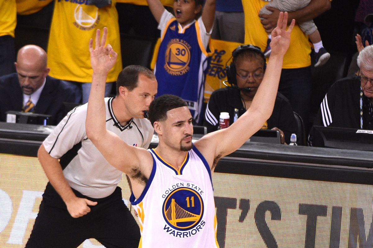 Klay dropped 37, including seven three-pointers, in game 1.