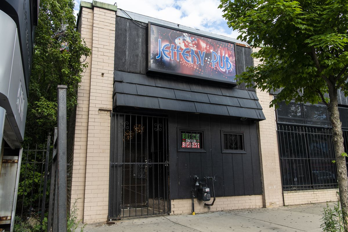 Jeffery Pub is an African American-owned gay bar at 7041 S. Jeffery Blvd. in South Shore.