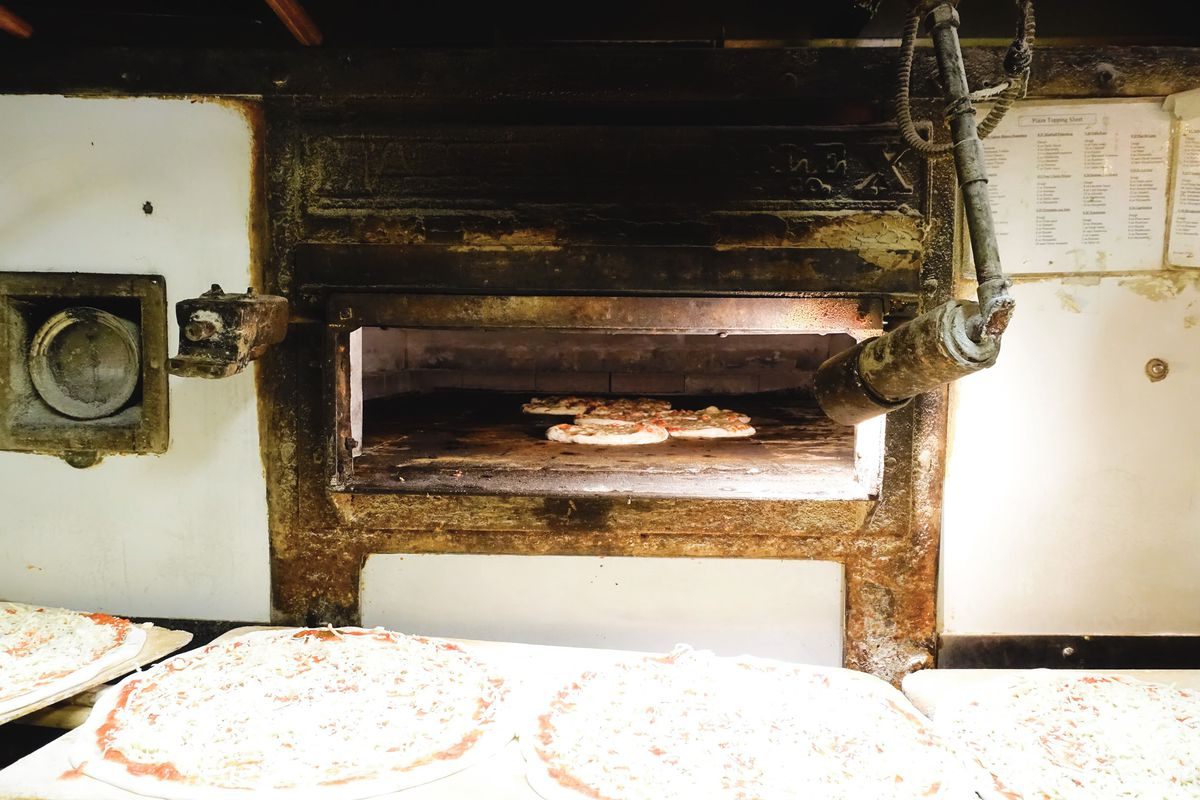 A close-up of Regina's very old oven