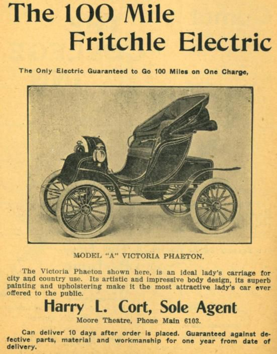 Fritchle elektromobiļa reklāmas brošūra.