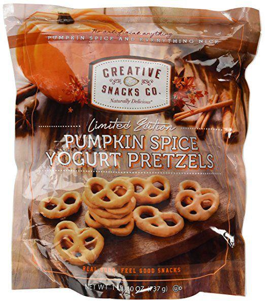 Creative Snacks Co. Pumpkin Spice yogurt pretzels
