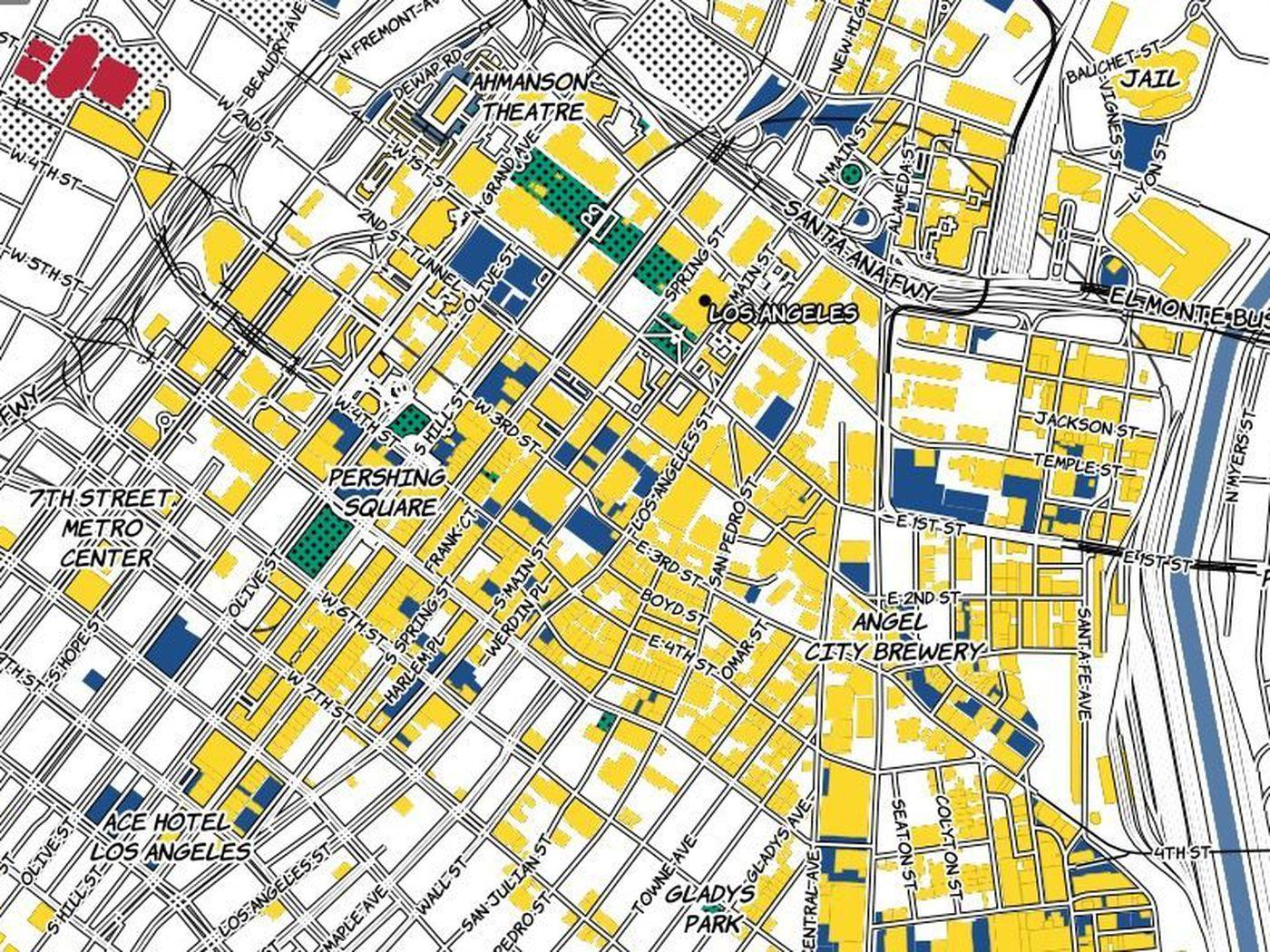 Los Angeles As Pop Artist Roy Lichtenstein Mightve Mapped It - Los angeles map wallpaper