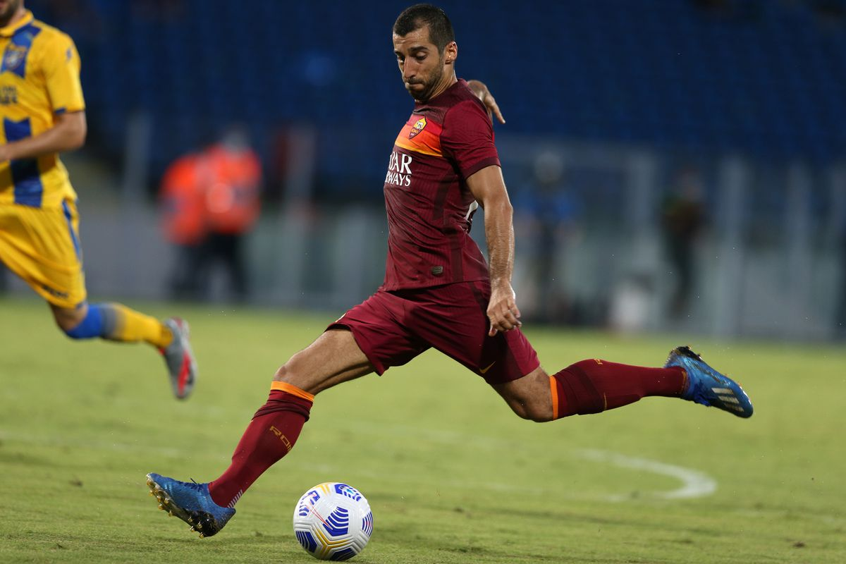 Henrikh Mkhitaryan (Roma) in action during the friendly...