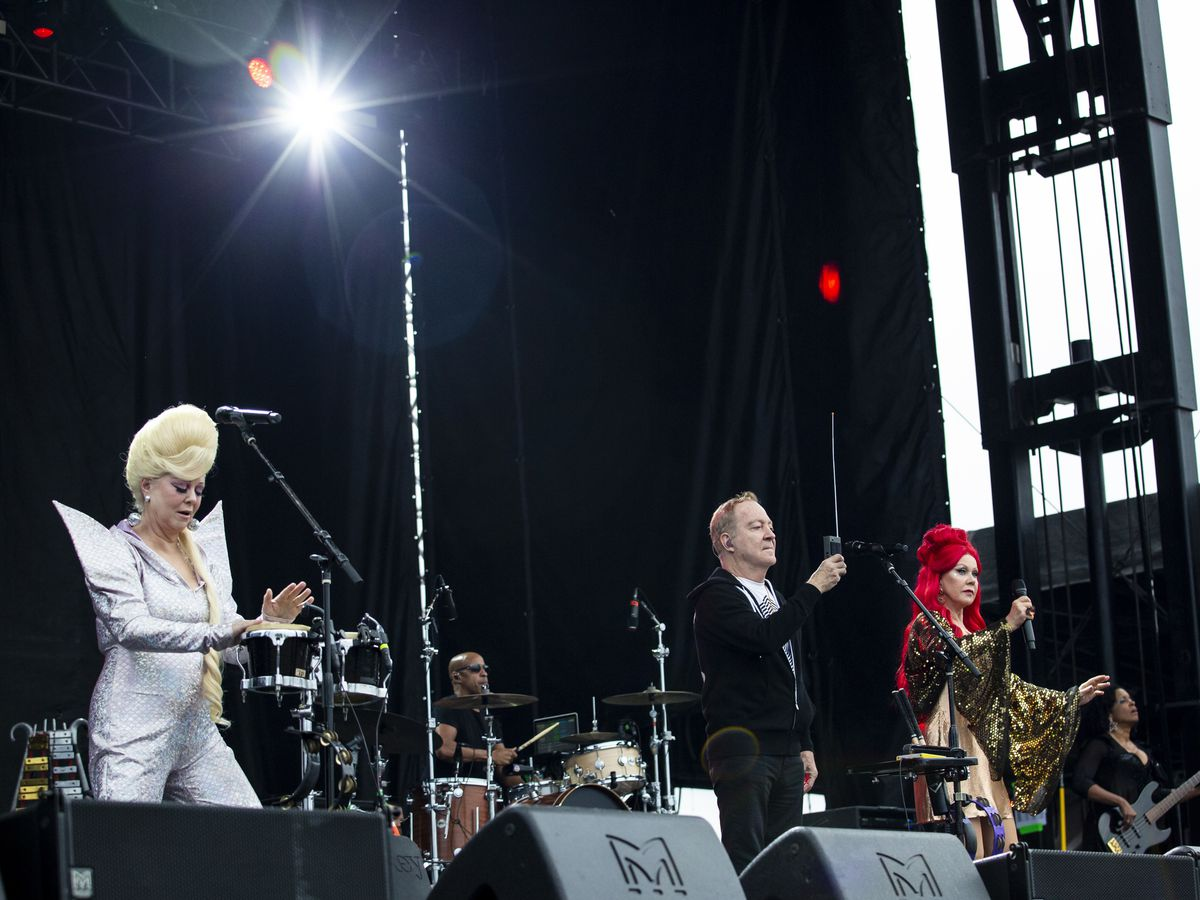 The B-52s perform on day three of Riot Fest in Douglas Park, Sunday night, Sept. 15, 2019.