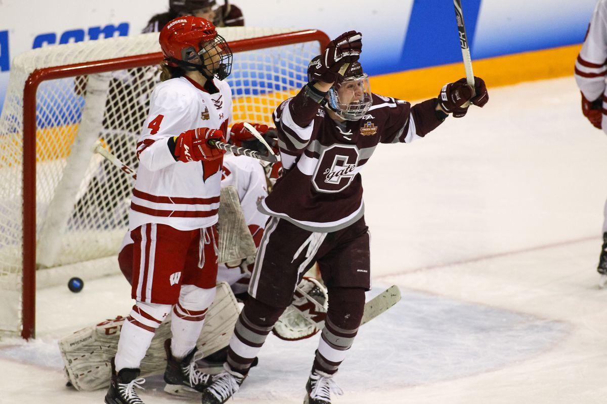 NCAA HOCKEY: MAR 16 Women's - Division I Championship - Wisconsin v Colgate