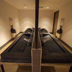 Communal bathroom sinks