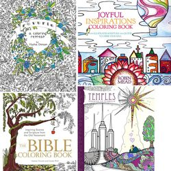 4 adult coloring books have religious