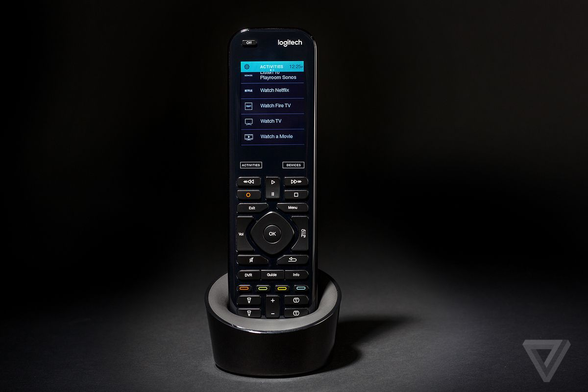 99ef3033cb2 The remote itself is a combination of a touchscreen and backlit tactile  buttons, so you can use it without looking in the dark. The design is  comfortable to ...