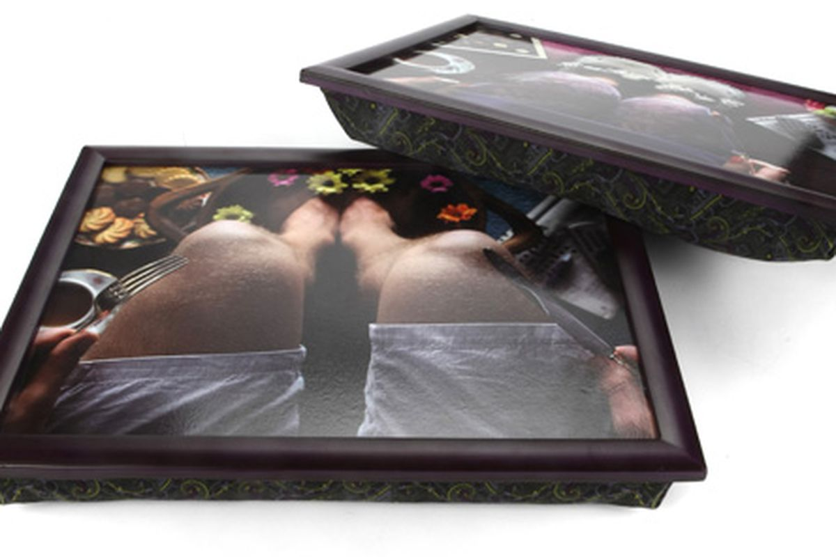 We're not sure we really understand it, but this Ted Baker TV tray looks cool.