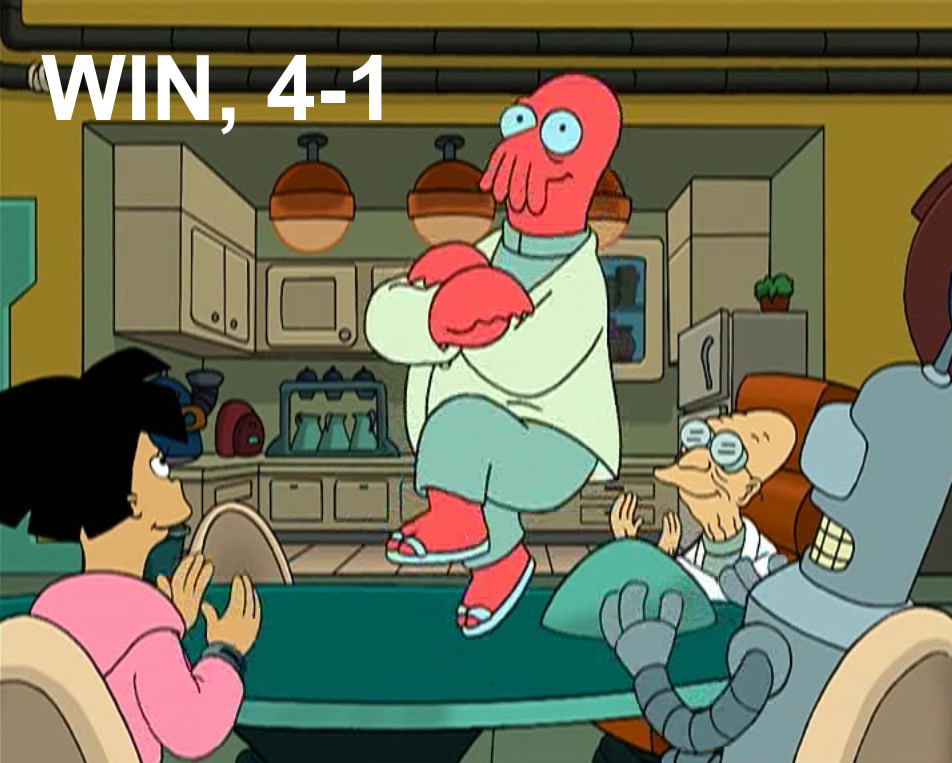 Win, 4-1