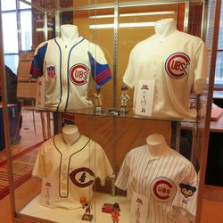 Throwback jerseys, top to bottom, left to right: 1940s, 1950s, 1930s, 1960s