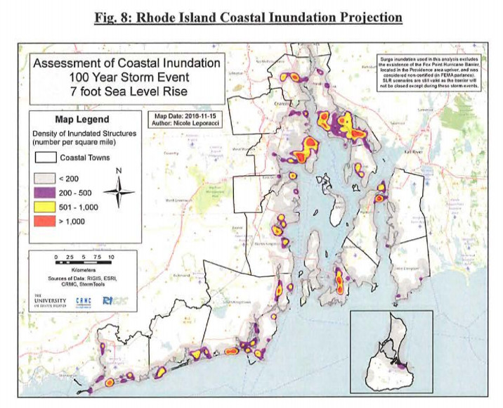 Rhode Island is concerned about sea level rise threatening coastal communities.