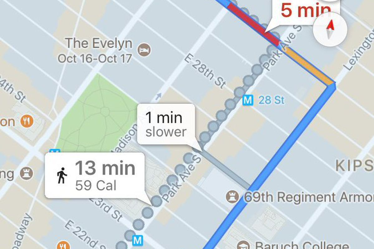 Google Maps to Remove Calorie Counter from iOS Apps