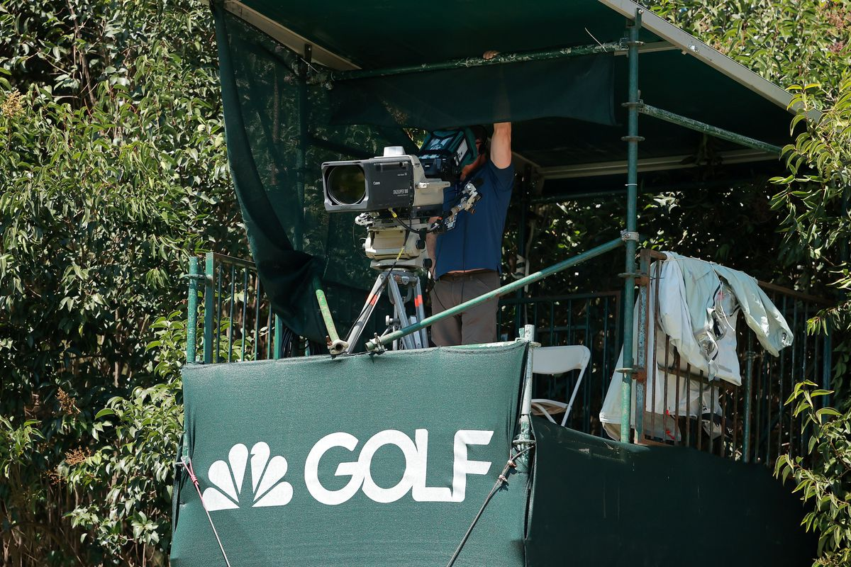A Golf Channel camera is operated during the first round of the World Golf Championships Mexico Championship at Club de Golf Chapultepec on February 20, 2020 in Mexico City, Mexico.