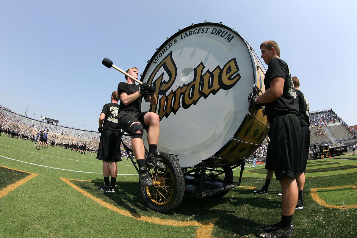 Is Purdue trying to compensate for something with the big drum?
