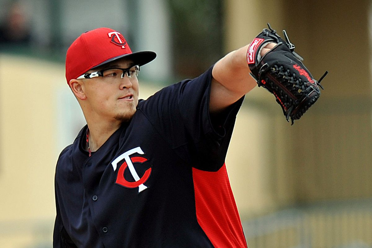 Vance Worley, the only real major leaguer in this game for the Twins.