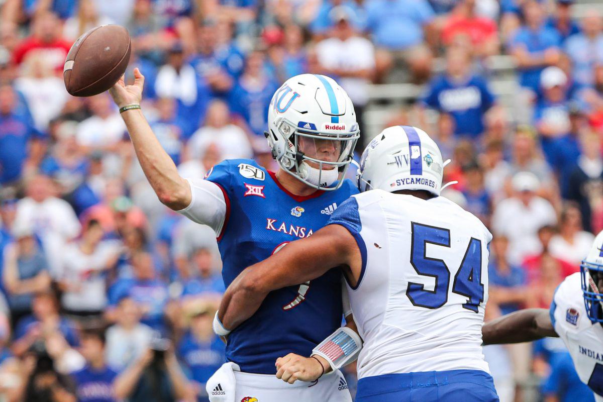 NCAA Football: Indiana State at Kansas