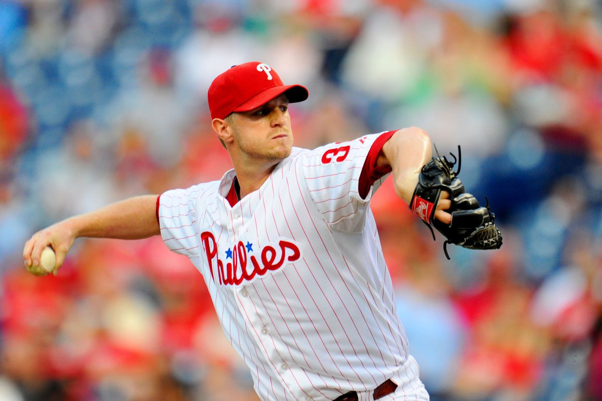 Kyle Kendrick was the only Phillies player the roving band of rebel anteaters didn't want to take with them. Mandatory Credit: Dale Zanine-US PRESSWIRE